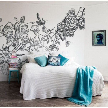 Murales Decorativos Modernos - Rocky Rose White
