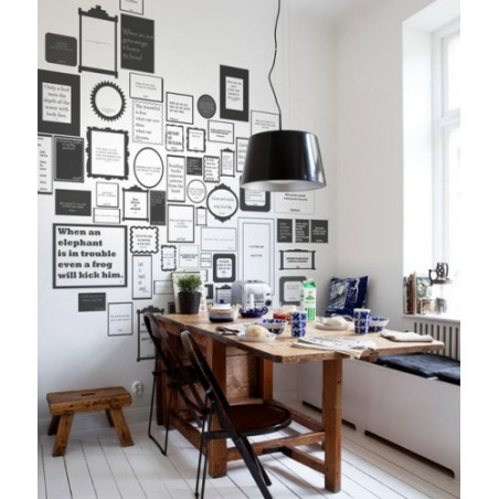 Murales Decorativos Modernos - Express Myself White
