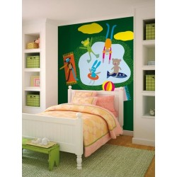 MURAL DE PARED SWIMMING GREEN