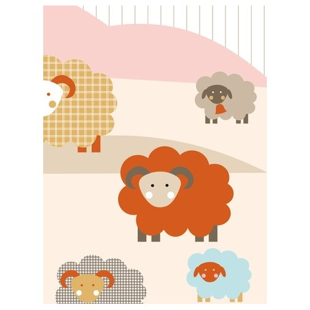 MURAL DE PARED SHEEP