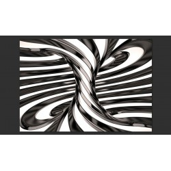 Fotomural Black and white swirl