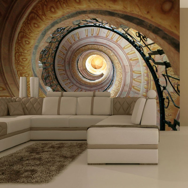 Fotomural Decorative spiral stairs