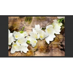 FREESIA ON WOOD