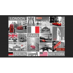 London, Paris, Berlin, New York
