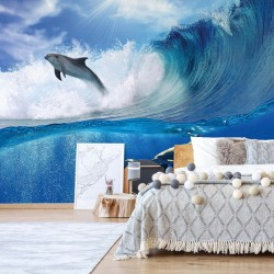 Delfines Sea Wave Nature