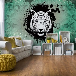 Tiger Abstract Verde