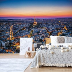 City Paris Sunset Eiffel Tower