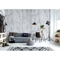 Black White Wooden Planks