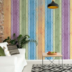 Coloured Wooden Planks