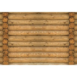Log Wood Wall