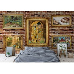 Paintings Art Luxury Brick Wall