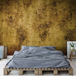 Sepia World Map Vintage
