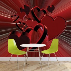 Red Heart Abstract