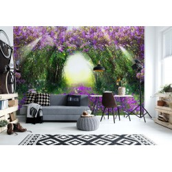 Flowers Purple Forest Light Beam Nature