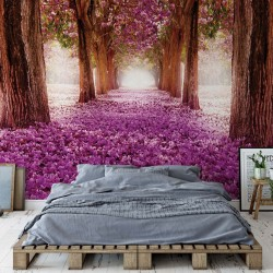 Flowers Tree Path Pink