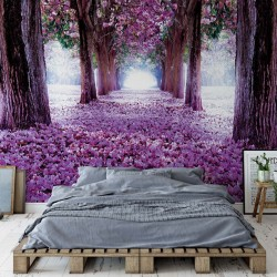 Flowers Tree Path Purple