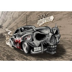 Alchemy Death Hot Rod Car Skull