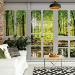 10637 - 3D Door View Forest