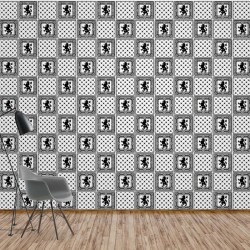 10807 - Vintage Tiles Pattern Black And White