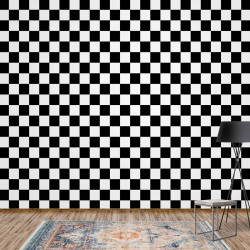 11207 - Black And White Checkered Pattern