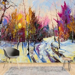 11601 - Modern Art Painting Winter