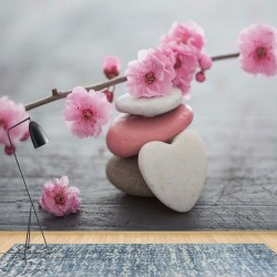 11620 - Spa Pebbles And Cherry Blossom Flowers