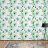 3277 - Magnolia Flowers Pattern Green