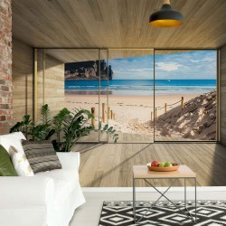 3308 - Beach 3D Modern Window View