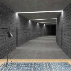3343 - 3D Concrete Tunnel Modern Architecture