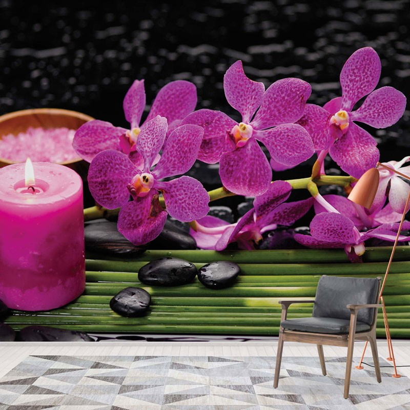 3399 - Purple Orchids Spa Candle