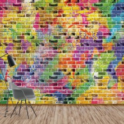 3469 - Multicoloured Brick Wall Texture
