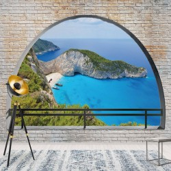 3482 - Greece Island Beach Window View