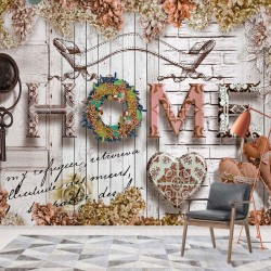 3515 - Home Flowers Vintage Farmhouse Chic
