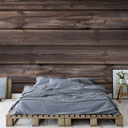 3524 - Wood Plank Texture Dark Brown