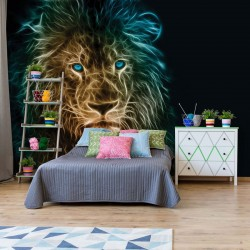 3631 - Lion Modern Light Painting