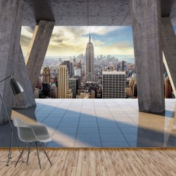 3650 - New York City Skyline 3D Modern View Concrete