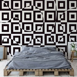 3736 - Modern Geometric Pattern Black And White